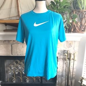Nike dry fit bright blue workout shirt